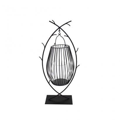 Castiçal Ferro Preto 40cm - Occa Moderna