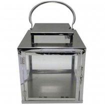 Lanterna Cromada 40x35x35cm - Occa Moderna cód: 35620