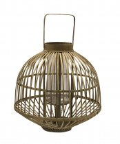 Lanterna Madeira Natural 62x47cm - Occa Moderna cód: 37523