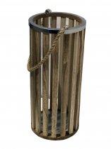 Lanterna Savena Madeira Alça Corda 49cm - Occa Moderna cód: 37757