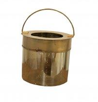 Lanterna Vidro Bronze 17cm - Occa Moderna cód: 37526