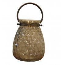 Lanterna Vidro Ouro Velho 25cm - Occa Moderna cód: 37520
